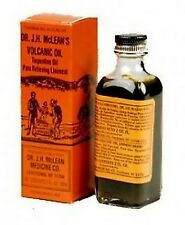DR.J.H McLEAN MEDICINE CO VOLCANICO OIL Turpentine Oil Muscle & Joint Pains 2oz