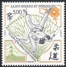 St Pierre & Miquelon 1989 Sports/Judo/Games/Martial Arts/Lighthouse 1v (n30727)