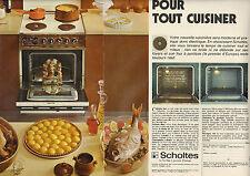 Publicité  Advertising 1973 (Double page)  SCHOLTES four à pyrolyse cuisinière