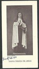 Estampa antigua del Santa Teresa andachtsbild santino holy card santini