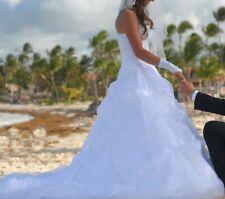 Brautkleid Hochzeitskleid mit Reifenrock 34 - 36