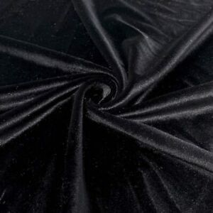 Spandex Stretch Velvet Fabric 60'' Wide by The Yard   {Choose The Color}