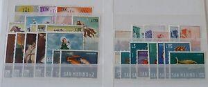 SAN MARINO ANNATE COMPLETE DAL 1966 AL 2006 MNH**