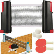Table Tennis Ping Pong Set 2x Paddle Bats 3Balls Extending Net Retractable