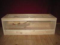 Nagerkäfig Holz Hamsterkäfig Mäuse Käfig XL !!! Kein Bausatz !!!