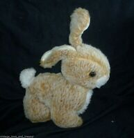 "9"" VINTAGE YOSKI PET WHITE & BROWN BUNNY RABBIT STUFFED ANIMAL PLUSH TOY JAPAN"