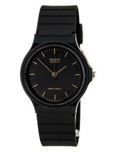 Casio MQ24-1E, Men's Black Resin Watch, Analog, Water Resistant