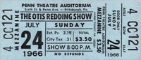 OTIS REDDING / SAM & DAVE 1966 TOUR UNUSED PITTSBURGH, PA. CONCERT TICKET / NMT