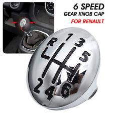 6 Speed Gear Shift Knob Cap Cover Insert For Renault Clio Megane Scenic Kangoo