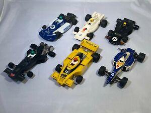 Vintage Scalextric Scrap Yard Bundle, 6 x Used Scalextric Slot Cars, F1 Slot Car
