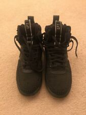 Nike Air Lunar Force 1 Duckboot Triple Nero Taglia 8uk