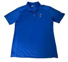 Nike Golf Tour Performance Men Dri-Fit Polo Shirt Sz L Blue Disney Mickey Mouse