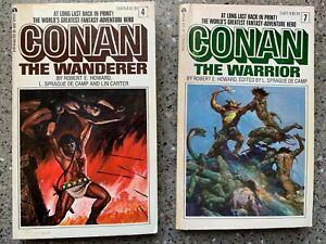 2 Book Lot -  Paperbacks - Conan - The Warrior - The Wanderer -1967-1968