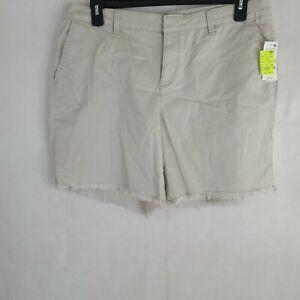 Style&Co. Womens Plus Frayed Chino Shorts Plus Sizes WP-289