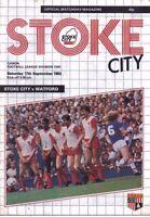 Stoke City v Watford Official Programme - 17th September 1983