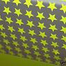 appliqué 30 étoiles 1cm Flex thermocollant JAUNE fluo