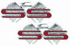 "1961 Chevrolet Impala ""SS"" Crossed Flag Rear Quarter Panel Emblems"