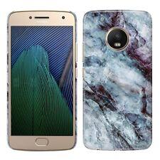 """For Motorola Moto G5 Plus 5.2"""" Marble Design HARD Back Case Phone Cover + Pen"""