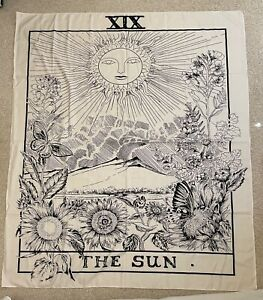 Tarot Tapestry - The Sun Wall Hanging (130cm × 150cm) (Perfect Condition)