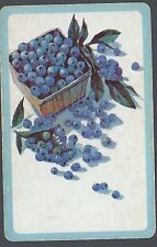Vintage Playing Swap Card Box of Blueberries