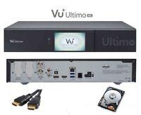 VU+ Ultimo 4K 1x DVB-S2 FBC Twin Tuner Linux Receiver UHD 2160p inkl 4 TB HDD