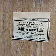 75-5 Leicester Advert 1967 de montfort hall white heather robin hall