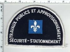 Quebec Courts Parking Security (Canada) Shoulder Patch from the 1980's