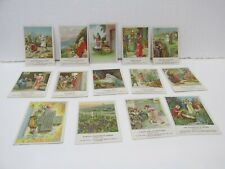 Set Of 14 Vintage Paperwork Berean Lesson Picture Cards jrs19