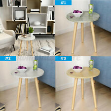 Mini Round Wooden Side Table Lamp Plant Coffee Tea Living Room Home  US1