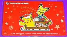 Pokemon Pichu and Pikachu Christmas Sled Phone Card From Pokemon Center 2000