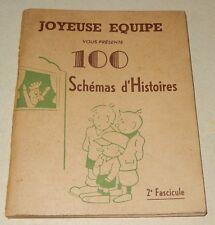 JOYEUSE EQUIPE vous présente  100 Schémas d'Histoires à raconter pour Enfants