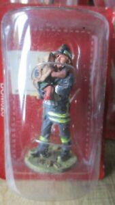 Del Prado-Figurine collector-Pompier sauvetage fillette-Italie 2003-sous blister
