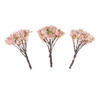 1:12 Puppenhaus Miniaturharz Pfirsichblütenbaum Mikrolandschaftsdekoration