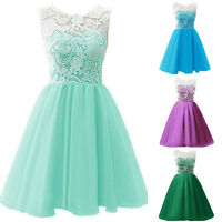 Girls Floral Dress Kids Summer Lace Party Dress Age 7-13 Years Wedding Bow Dress
