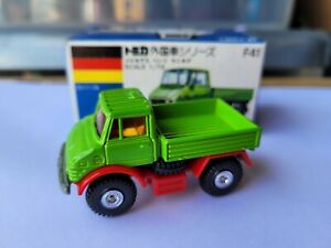 Tomica F41 - MERCEDES BENZ UNIMOG [GREEN] MINT VHTF BOX GREAT MADE IN JAPAN