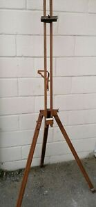 Vintage artist Easel wooden George Rowney & Co painting  travel stand full size