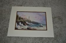 "Thomas Kincade Collector's 1999 ""Clearing Storms"" Litho Matted 14"" x 11"" Print"