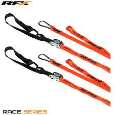 Nuevo Rfx Raza Serie 1.0 amarres Naranja/Negro Lazo adicional & Mosquetón KTM