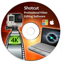 Shotcut Professional Video Editor Software Suite-4K Movie-Windows & Mac-CD-2019*