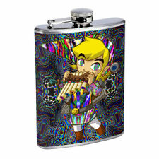 Psychedelic Cartoon Em1 Flask 8oz Stainless Steel Hip Drinking Whiskey
