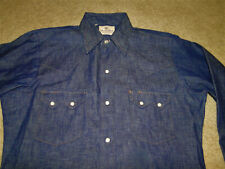 Vintage Dee Cee Western denim Shirt Made in Usa Never Worm Size 15 -35
