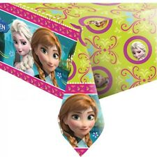 DISNEY FROZEN ANNA AND ELSA BIRTHDAY PARTY TABLECOVER TABLECLOTH NEW!
