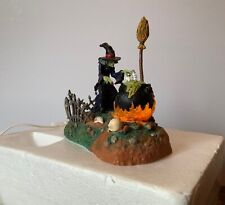 Dept 56 Halloween Village Hocus Pocus Witch Animated Lighted Lit Accessory 52516