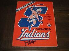 Jack Butterfield Signed Autographed 1976-77 Springfield Indians Program-Dec Hof