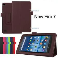 Slim Leather Fold Stand Case Cover For Amazon Kindle Fire 7 2015 Tablet Brown A☆