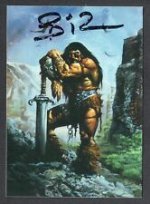 CONAN: THE MARVEL YEARS (Comic Images) Artist Autograph Card by SIMON BISLEY BIZ