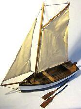 Fischer barco-barco modelo-Segler-barco de vela-madera casco y Leinen Vela