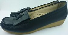 Hush Puppies The Body Shoe Women 10 M Black Leather Tassel Loafers