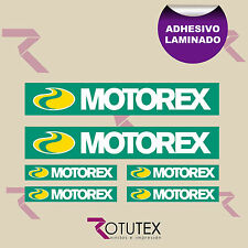 X 4 MOTOREX OIL SCAPE ADHESIVO PEGATINA DECAL VINILO VINYL STICKER DECAL ADESIVI