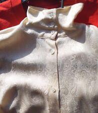 Vtg 1980s Ralph Lauren Silk Blouse Dressy Ivory Cream Shoulder Pads Size 12 Euc